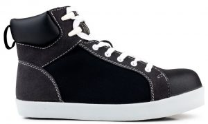 Black High Top S2PSRC Safety Sneaker by Eco-Vegan Shoes Unisex