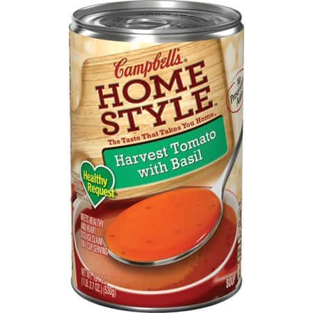 Campbells Homestyle Healthy Request Harvest Tomato with Basil Soup
