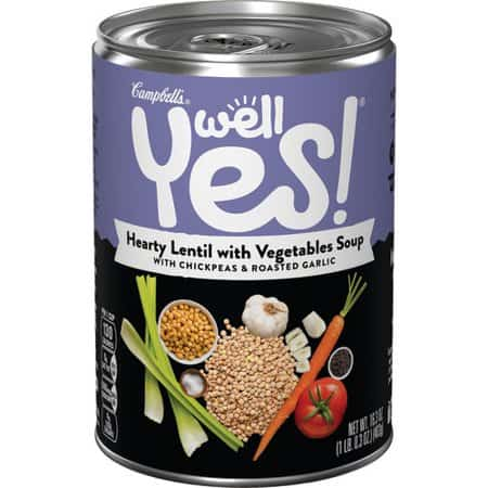 Campbells Well Yes! Hearty Lentil with Vegetables Soup