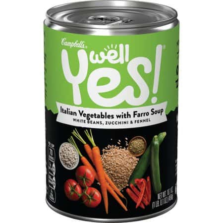 Campbells Well Yes! Italian Vegetables with Farro Soup