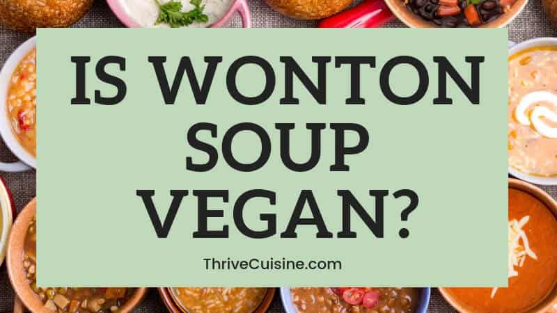 IS WONTON SOUP VEGAN