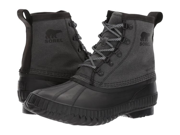 MENS BLACK CHEYENNE II SHORT CANVAS DUCK RAIN BOOTS