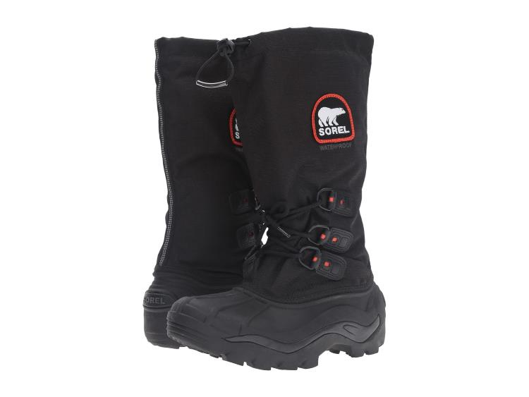 MENS BLACK WITH RED DETAIL BLIZZARD XT SNOW BOOTS