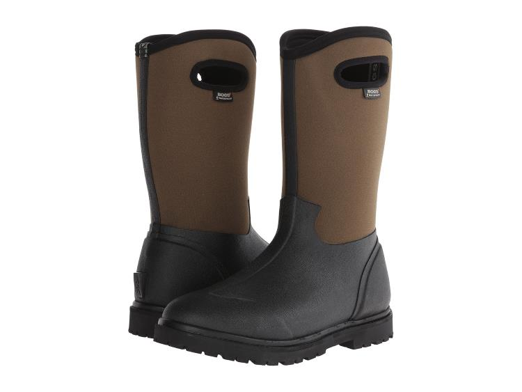 MENS TWO TONE BLACK AND BROWN ALL WEATHER BOGS BOOTS BY ROPER