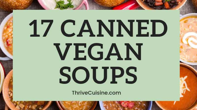 VEGAN CANNED SOUP