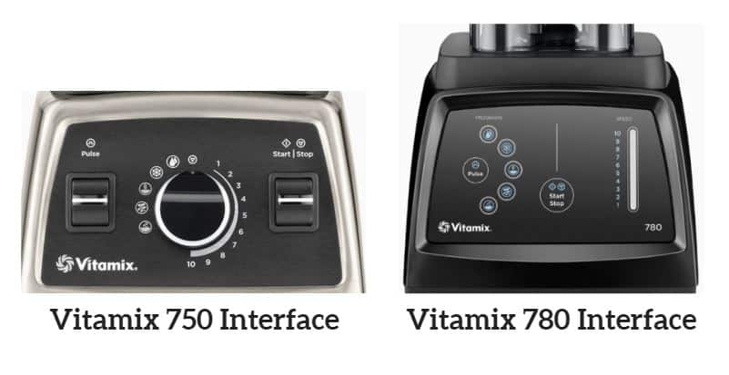 VITAMIX 750 VS 780 INTERFACE