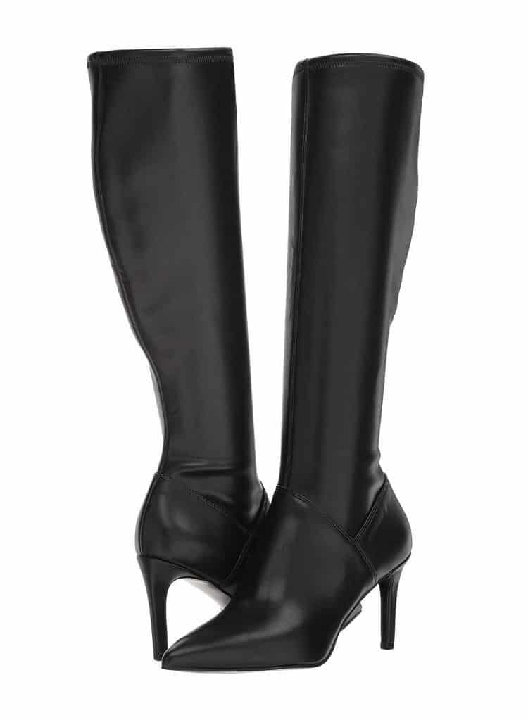 WOMENS BLACK HIGH HEEL CHELSIS KNEE BOOTS BY NINE WEST