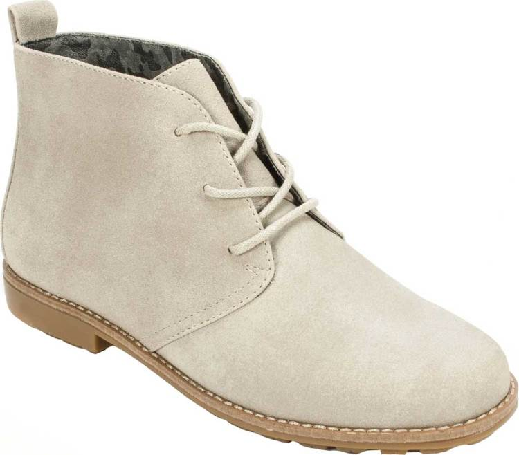 WOMENS WHITE LACE UP CHUKKA BOOTS BY WHITE MOUNTAIN