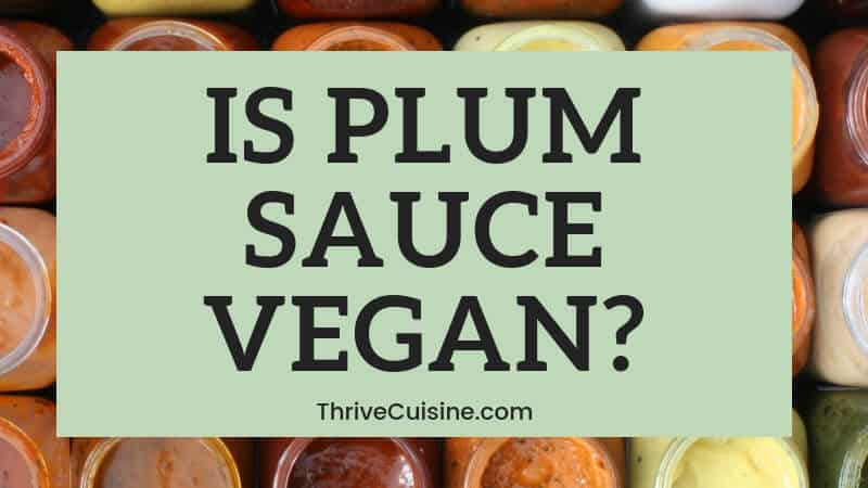 is plum sauce vegan