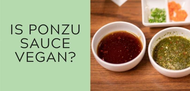 Is Ponzu sauce vegan?