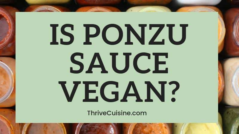 is ponzu sauce vegan