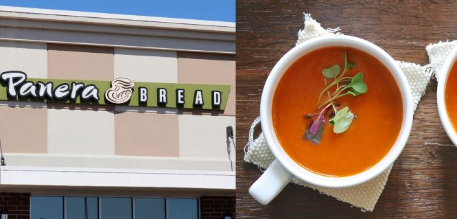 panera bread and tomato soup