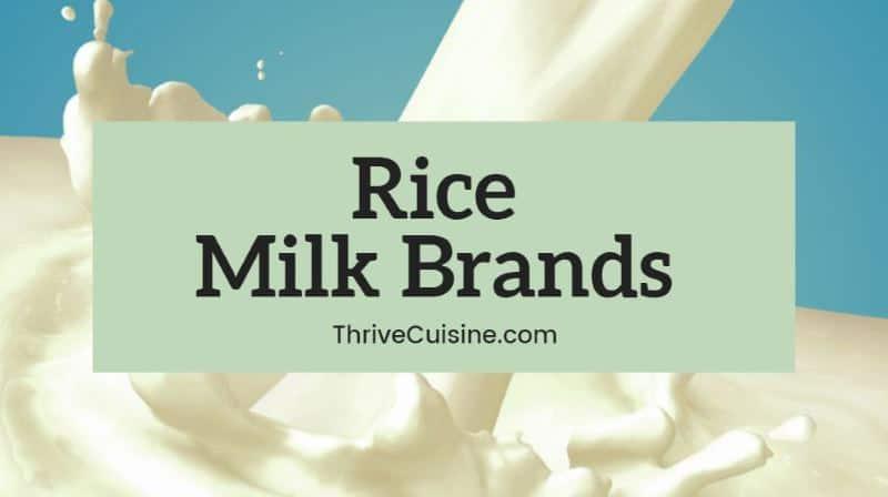 rice milk brands