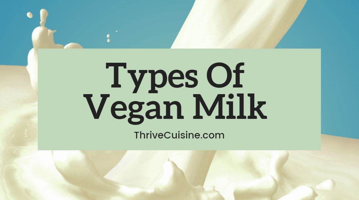 types of vegan milk