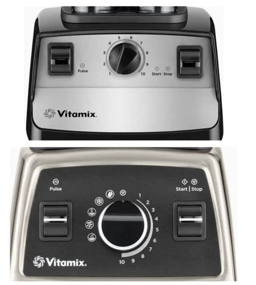 vitamix 5300 vs 750 interface