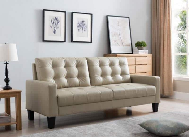 ACCESS GLOBAL HOME VENICE TUFTED LEATHER SOFA