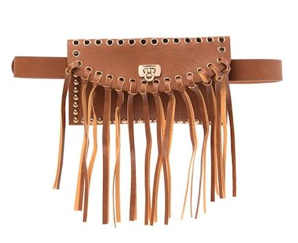 BROWN FAUX LEATHER BELT BAG BY RAJ IMPORTS