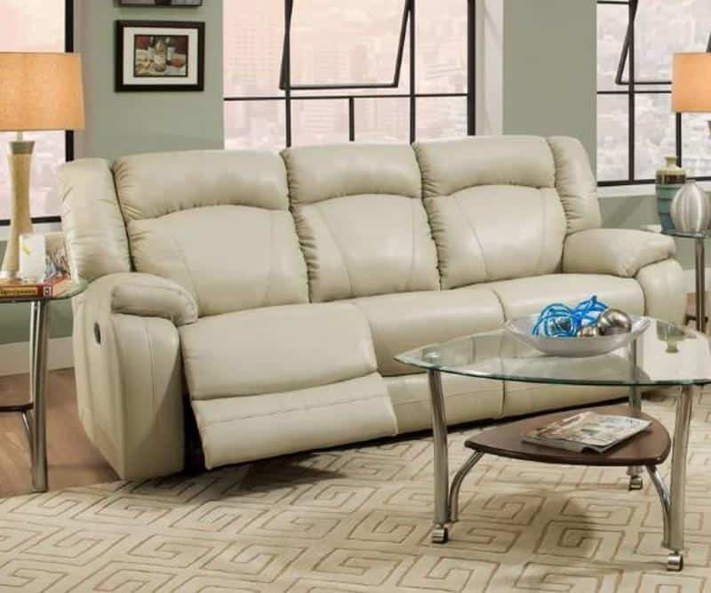 DARBY HOME CO SEATONVILLE MOTION RECLINING SOFA BY SIMMONS UPHOLSTERY
