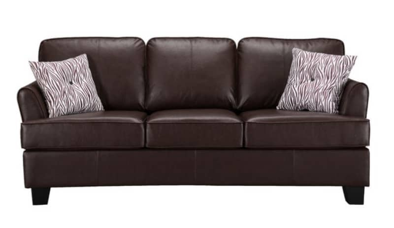ENZO FAUX LEATHER QUEEN SLEEPER SOFA