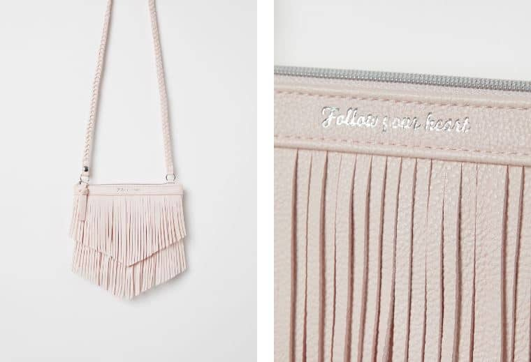 FROSTED PINK FRINGE BAG FROM H&M
