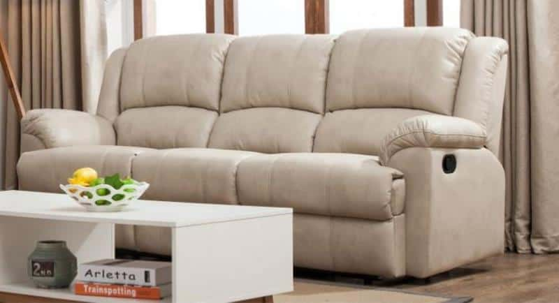 GORDON MOTION LEATHER AIR 3 SEATS DOUBLE RECLINER SOFA