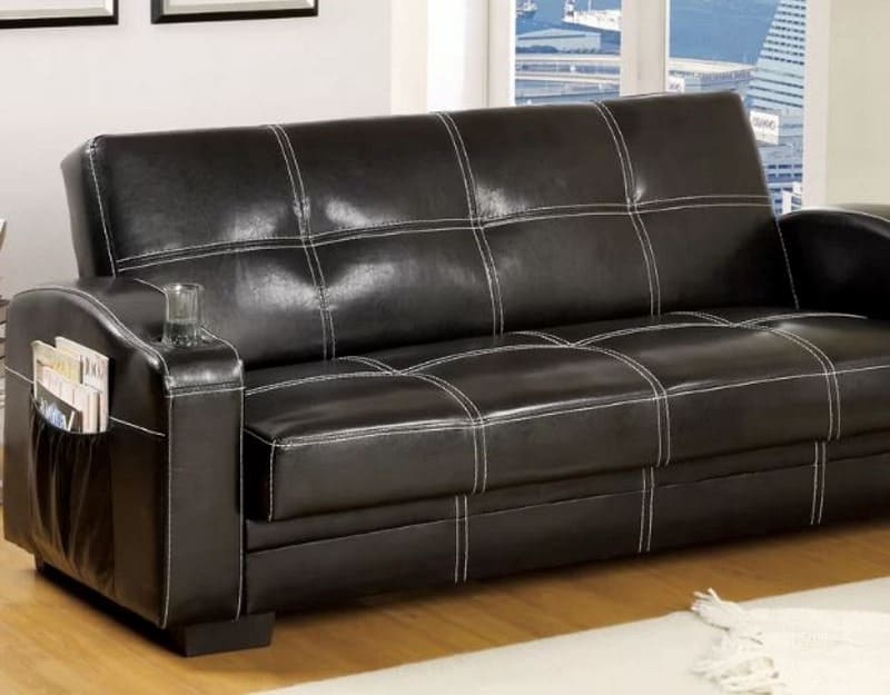 Excellent 8 Faux Leather Sofa Bed Options To Accommodate Guests 2019 Machost Co Dining Chair Design Ideas Machostcouk