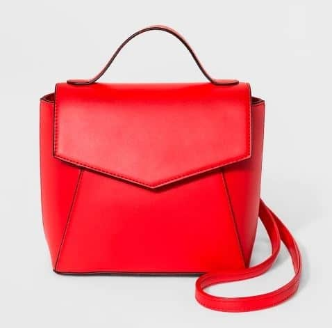 805b493305 Vegan Backpack Purses. LIPSTICK RED WOMENS CONVERTIBLE BACKPACK ENVELOPE  PURSE BY A NEW DAY