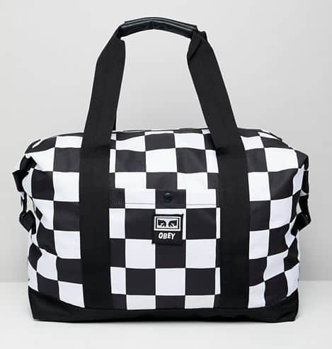 MENS DROP OUT CHECKERED WEEKENDER DUFFEL BY OBEY
