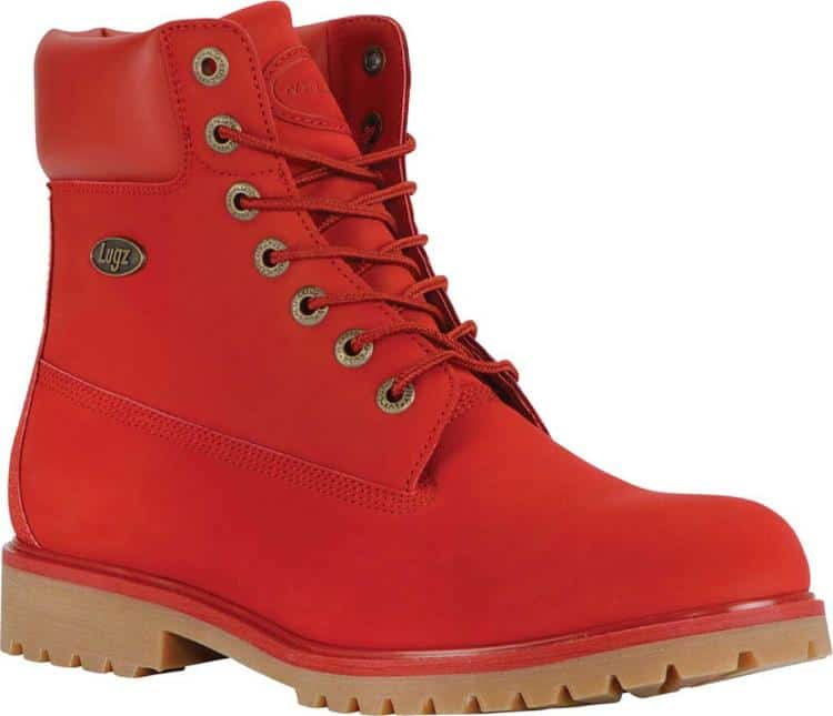 MENS MARS RED CONVOY WATER RESISTANT 6 WORK BOOTS BY LUGZ