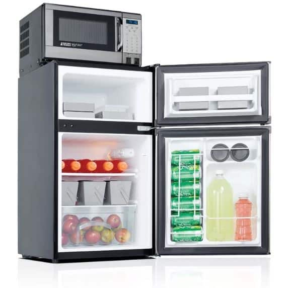 MICROFRIDGE SAFE PLUG 3.1 CU. FT. COMPACT REFRIGERATOR WITH FREEZER