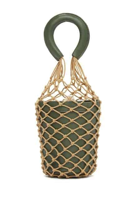 ABBY OLIVE NETTED BUCKET BAG BY MELIE BIANCO