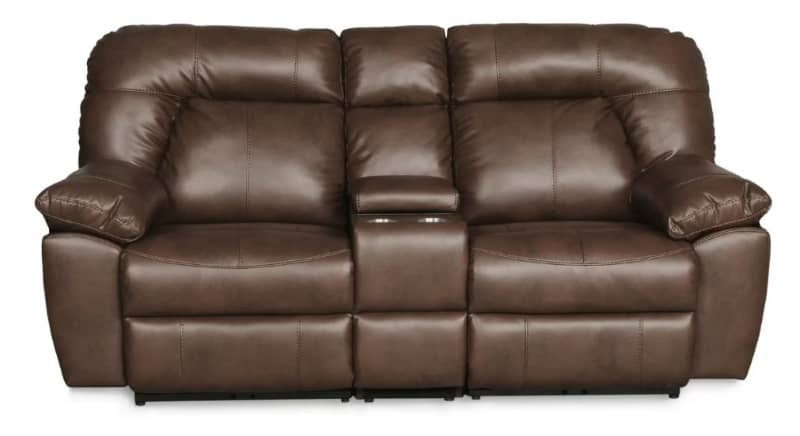 RED BARREL STUDIO BOLLES DUAL CONSOLE RECLINING SOFA