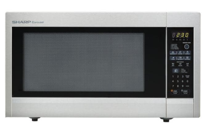 SHARP CAROUSEL COUNTERTOP MICROWAVE OVEN, STAINLESS STEEL, 2.2 CUBIC FT.