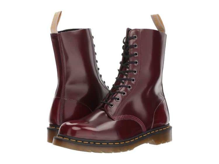 UNISEX CHERRY RED 1490 LACE UP COMBAT BOOTS BY DR. MARTENS