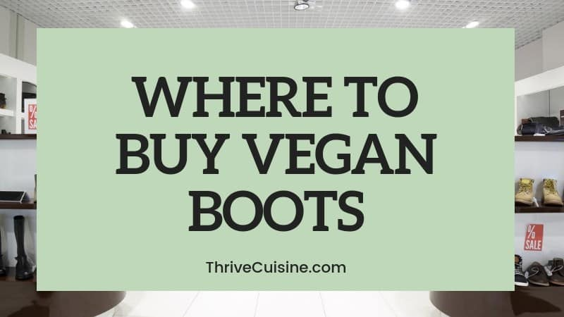 WHERE TO BUY VEGAN BOOTS