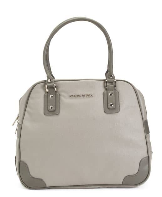 WOMENS 18 STINGRAY GRAY FAUX LEATHER LAPTOP TRAVEL TOTE BY ADRIENNE VITTADINI