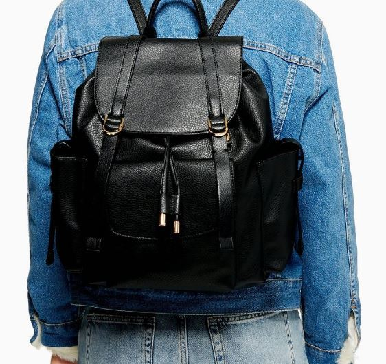 WOMENS BLACK BECKY BACKPACK FROM TOPSHOP