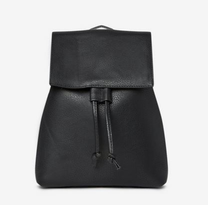 WOMENS BLACK FAUX LEATHER BACKPACK FROM DOROTHY PERKINS
