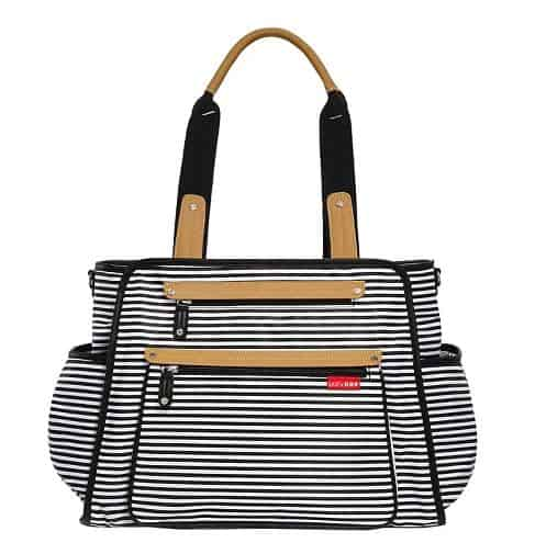 WOMENS GRAND CENTRAL TAKE-IT-ALL STRIPED DIAPER BAG BY SKIP HOP