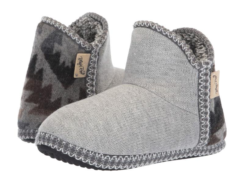 WOMENS KAYLEE GRAY AZTEC UGG STYLE ANKLE BOOTIES BY M&F WESTERN