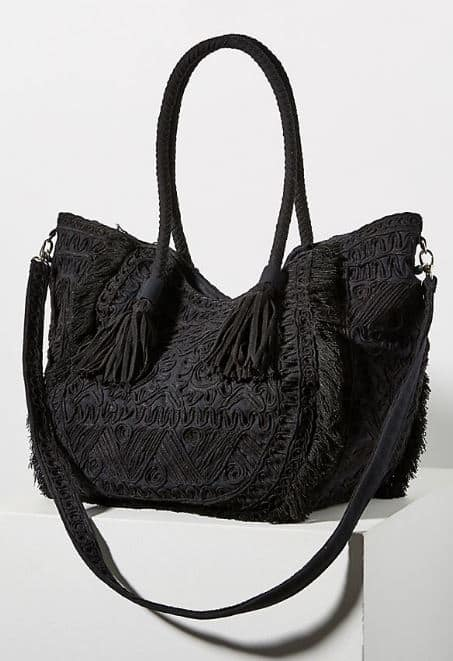 WOMENS LESS IS MORE BLACK WEEKENDER FROM ANTHROPOLOGIE