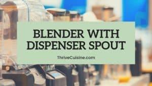 blender with dispenser spout