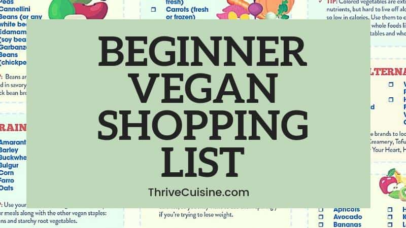 easy beginner vegan shopping list