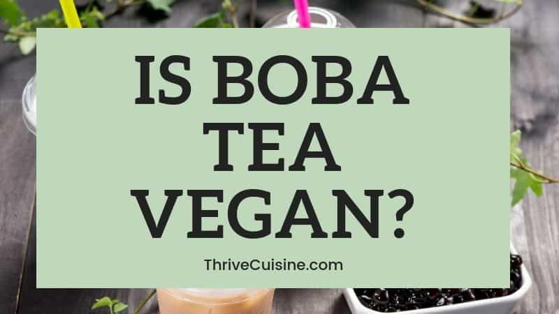 is boba vegan