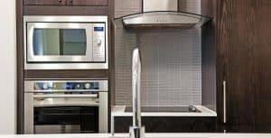 stainless steel built in microwave