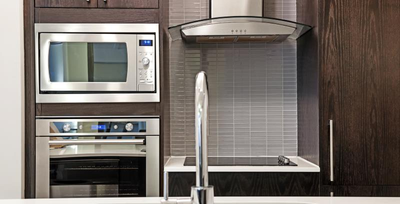 stainless steel built in microwave