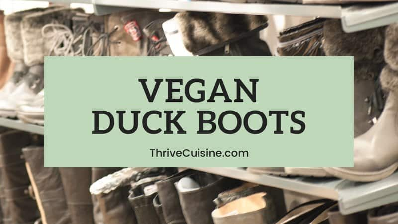 vegan duck boots