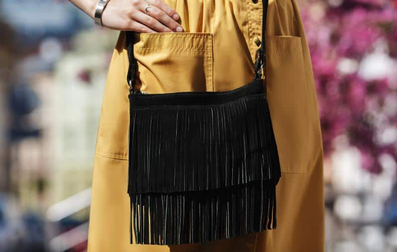 vegan fringe bag