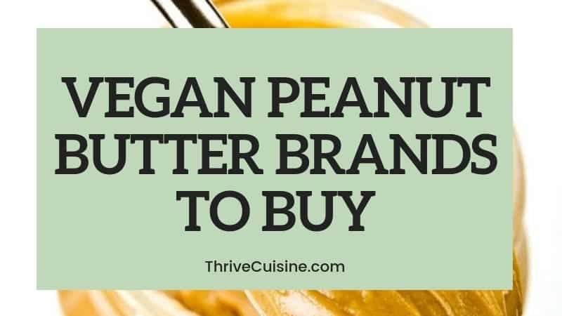 vegan peanut butter brands