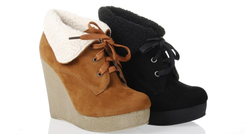 vegan wedge boots